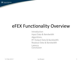 eFEX Functionality Overview