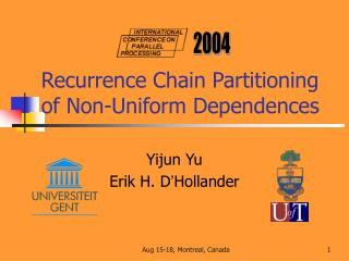 Recurrence Chain Partitioning of Non-Uniform Dependences