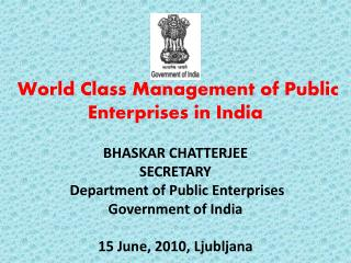 ROLE OF DPE IN GOVERNMENT OF INDIA