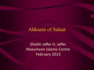 Ahkaam of Salaat