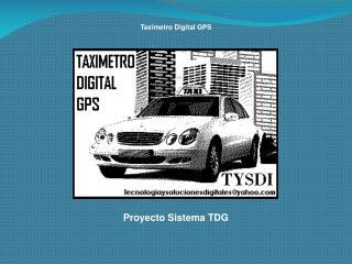 Proyecto Sistema TDG