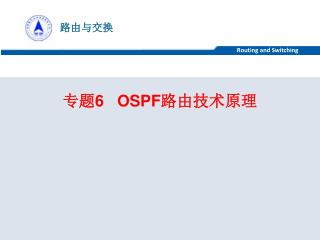 专题 6   OSPF 路由技术原理