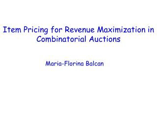 Item Pricing for Revenue Maximization in Combinatorial Auctions