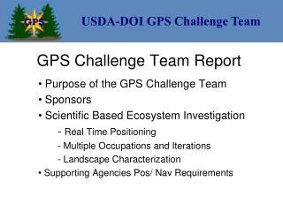 GPS Challenge Team Report