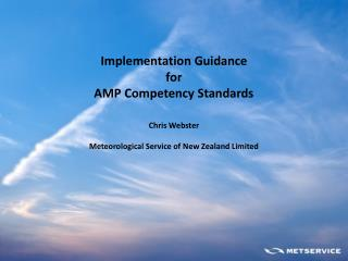 Implementation Guidance for AMP Competency Standards