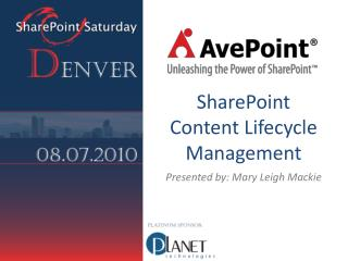 SharePoint Content Lifecycle Management