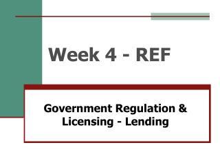 Week 4 - REF