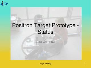 Positron Target Prototype - Status
