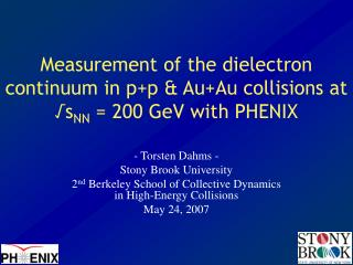 Measurement of the dielectron continuum in p+p & Au+Au collisions at √s NN  = 200 GeV with PHENIX