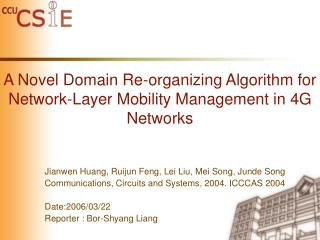 A Novel Domain Re-organizing Algorithm for Network-Layer Mobility Management in 4G Networks