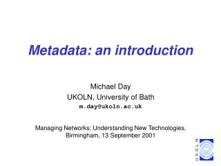 Metadata: an introduction