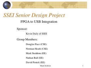 SSEI Senior Design Project