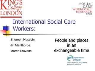 International Social Care Workers: