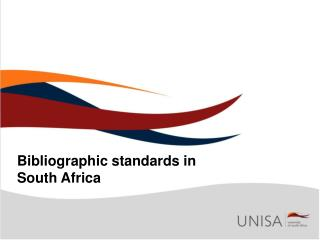 Bibliographic standards in South Africa