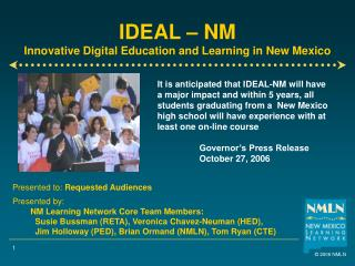 IDEAL – NM Innovative Digital Education and Learning in New Mexico