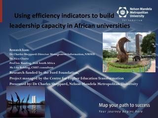Using efficiency indicators to build  leadership capacity in African universities
