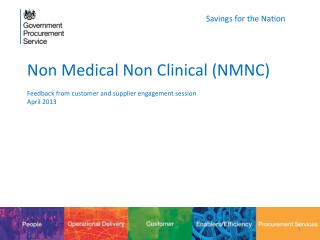 Non Medical Non Clinical (NMNC) Feedback from customer and supplier engagement session