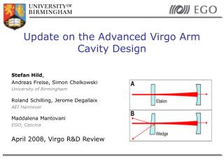Update on the Advanced Virgo Arm Cavity Design