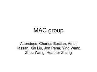 MAC group