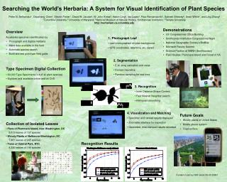 Searching the World's Herbaria: A System for Visual Identification of Plant Species