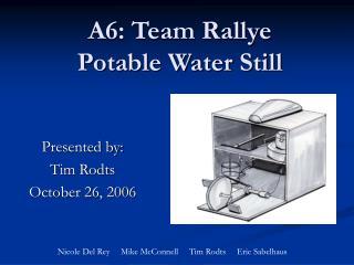 A6: Team Rallye Potable Water Still