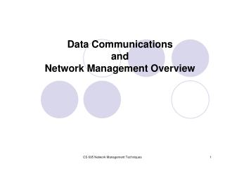 Data Communications and Network Management Overview
