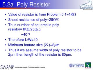 5.2a  Poly Resistor