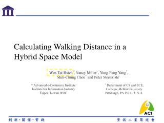 Calculating Walking Distance in a Hybrid Space Model