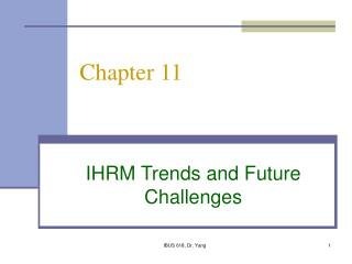 IHRM Trends and Future Challenges