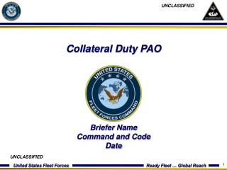 Collateral Duty PAO