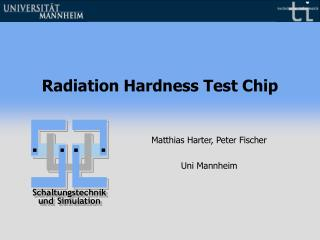 Radiation Hardness Test Chip