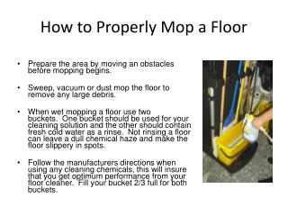 How to Properly Mop a Floor