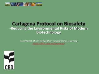 Presentation Outline Part 1: What is the Protocol on Biosafety?  Part 2: