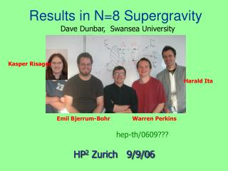 Results in N=8 Supergravity