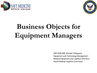 Business Objects for Equipment Managers