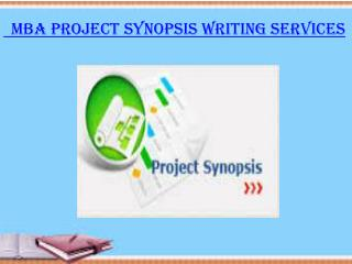 MBA Project Synopsis Writing Services