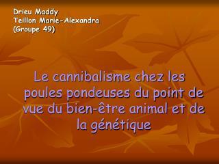 Drieu Maddy Teillon Marie-Alexandra Groupe 49