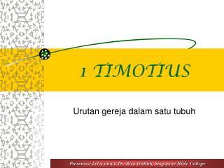 1 TIMOTIUS