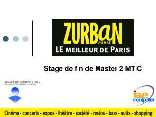 Stage de fin de Master 2 MTIC