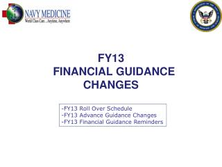 FY13   FINANCIAL GUIDANCE CHANGES