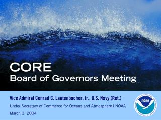 CORE  Board of Governors Meeting