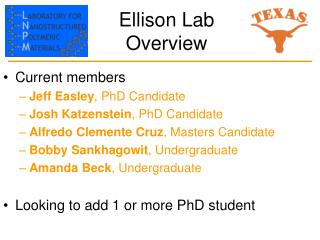 Ellison Lab Overview