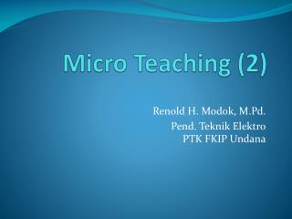 Micro Teaching (2)
