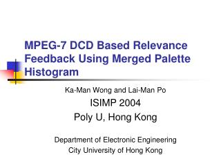 MPEG-7 DCD Based Relevance Feedback Using Merged Palette Histogram