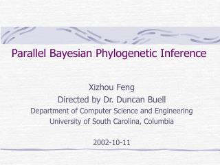 Parallel Bayesian Phylogenetic Inference