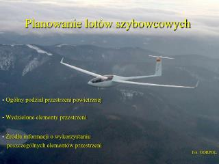 Planowanie lot w szybowcowych
