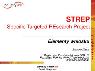 STREP Specific Targeted REsearch Project