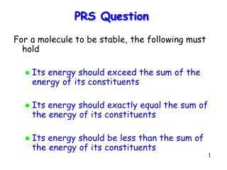 PRS Question