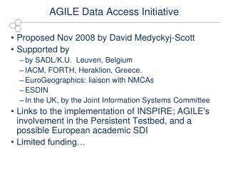 AGILE Data Access Initiative