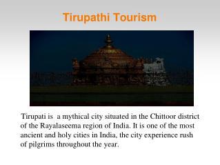 places to visit in Tirupati